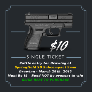 Single Ticket Gun Raffle $10