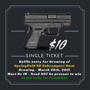Single Ticket Gun Raffle $10