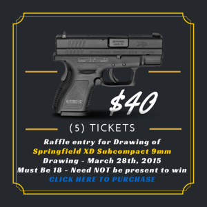 Raffle Ticket $40 for (5) Tickets