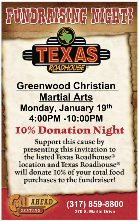 GCMA & Texas Roadhouse Dine-N-Donate